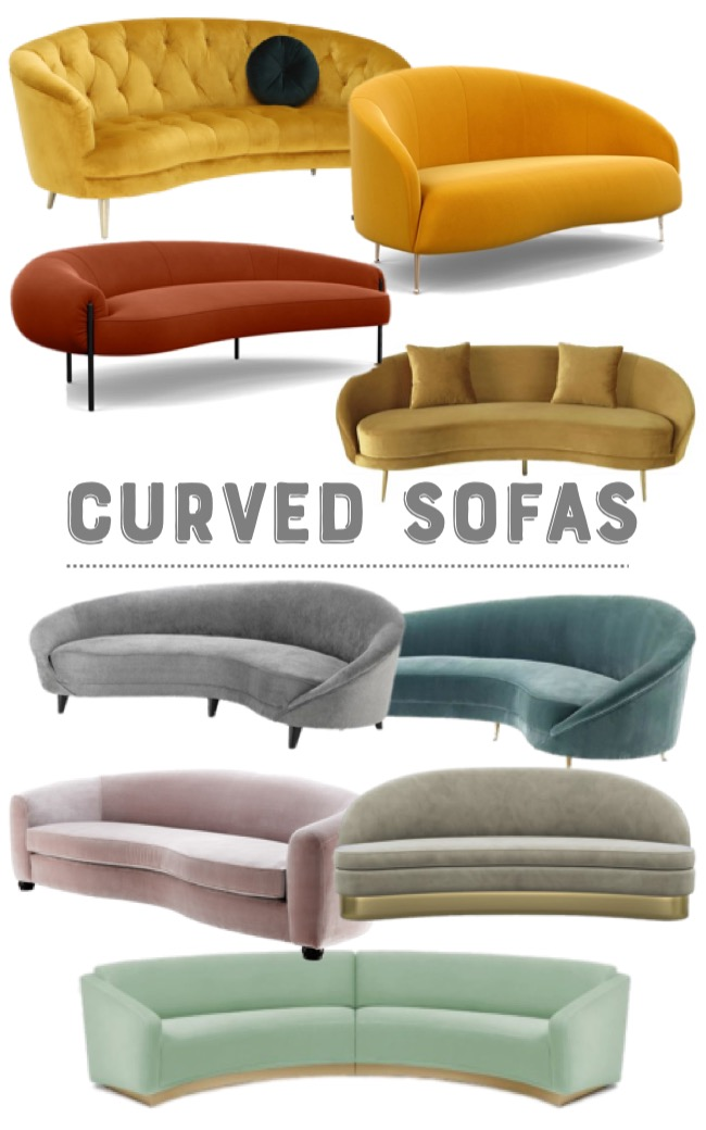 captivating curved sofa seating trend mood board