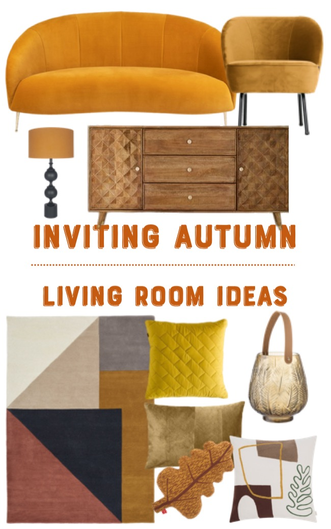 inviting autumn colour living room ideas mood board