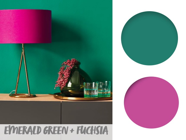 living room paint colour combinations emerald green and fuchsia