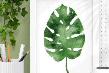 lush monstera leaf wall art prints feature image