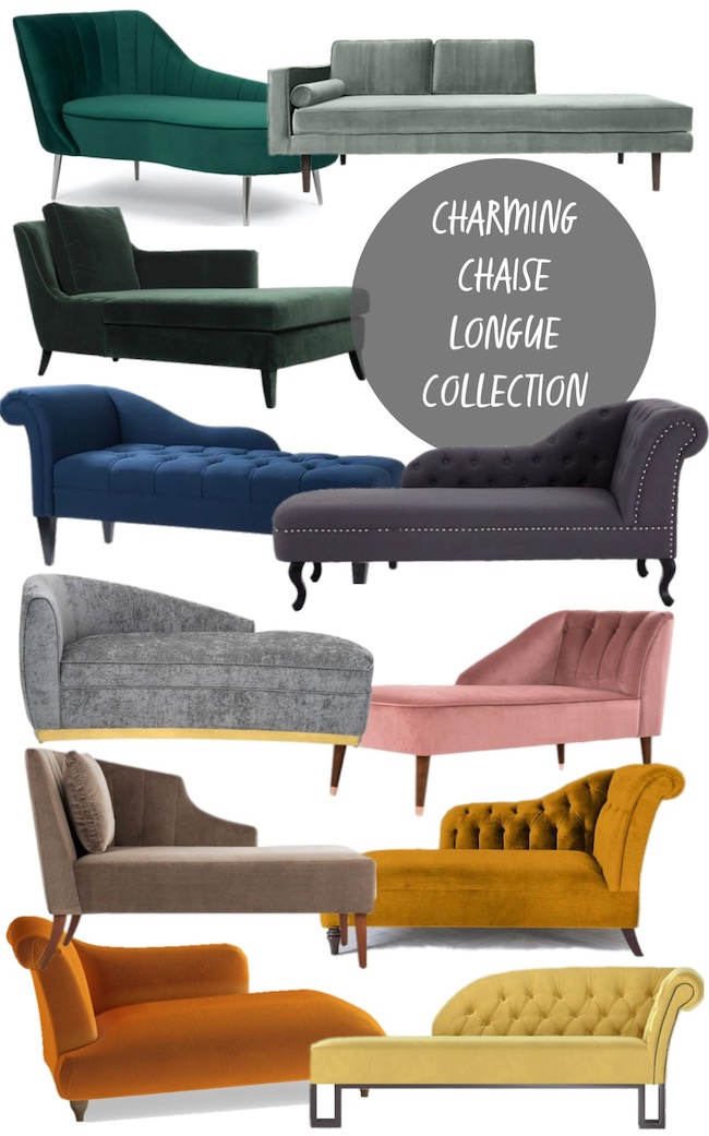 charming velvet chaise longue collection mood board