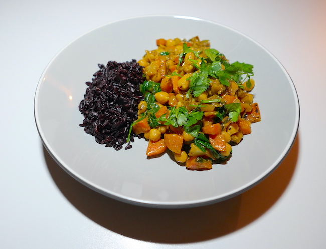 new year healthy eating with mindful chef vegetarian korma
