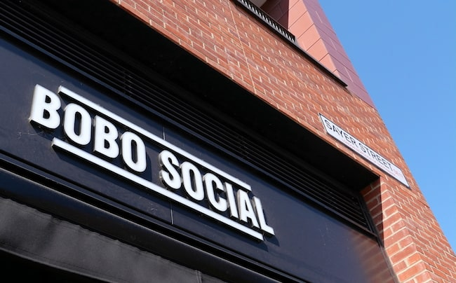 bobo social elephant and castle exterior signage
