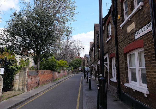 dickens southwark walk copperfield street church and row of cottages