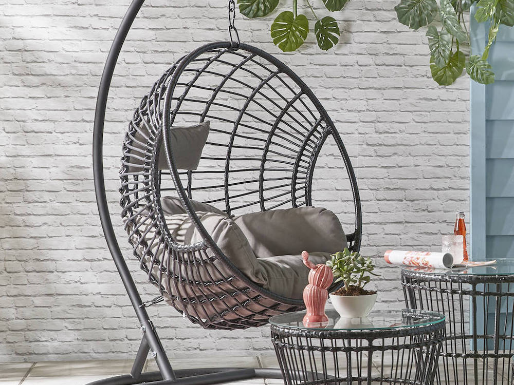 outdoor egg chairs are fabulous and fun