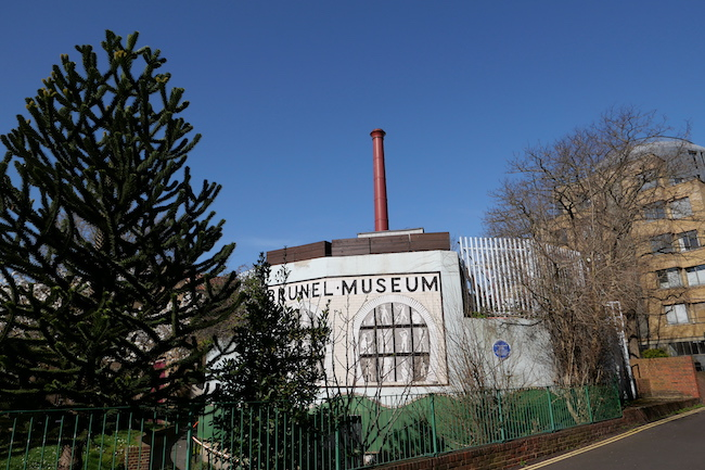 the brunel museum victorian building with chimney