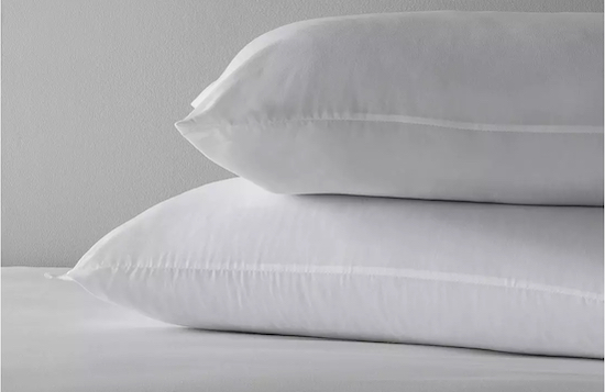 two supersoft washable medium pillows from argos