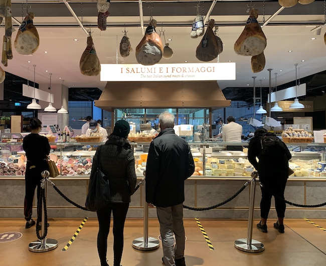 cheese and cured meats counter eataly bishopsgate london