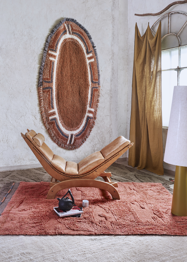 lorena canals textile products rug on wall and floor