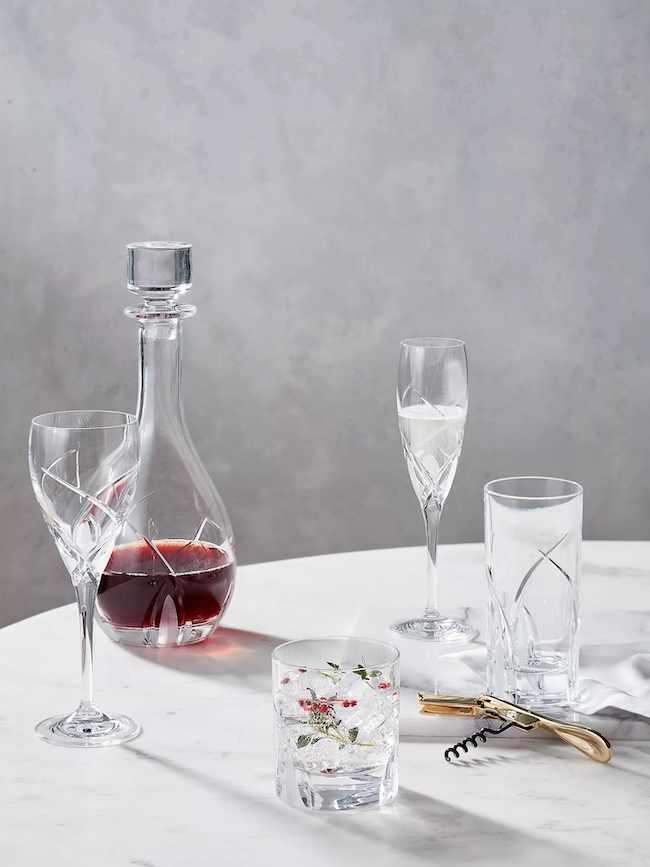 grosseto cut crystal glass champagne flutes from john lewis and partners
