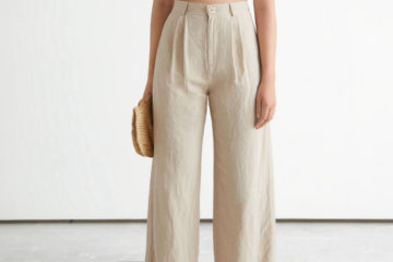 lovely relaxed neutral linen trousers feature image