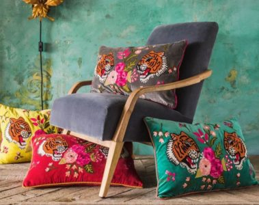 wild and wonderful exotic tiger cushions feature image