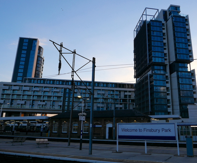 finsbury park station and city north